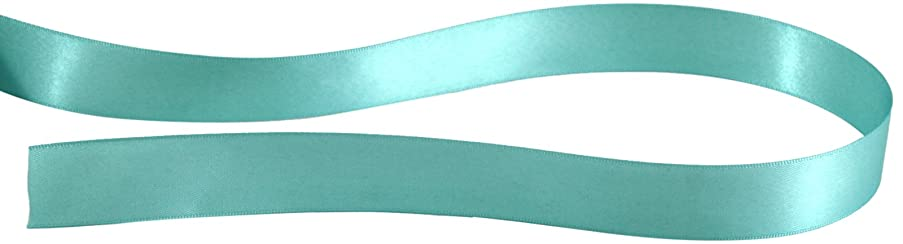 Kel-Toy Double Face Satin Ribbon, 5/8-Inch by 25-Yard, Blue