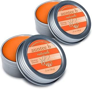 Auntee B Naturals Moisturizing Organic Lip Balm (Orange Dream) - 2 Pack, 0.5 oz - All Natural, Non-Toxic, Gluten-Free