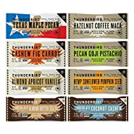 Thunderbird Paleo and Vegan Snacks Variety Pack - Real Food Energy Bars - Fruit & Nut Nutrition Bars - No Added Sugar, Grain and Gluten Free, Non-GMO, 8 Pack (Top 8 Mix)