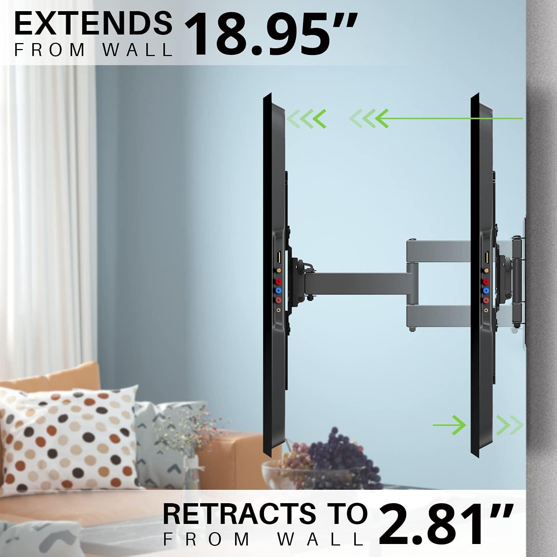 USX MOUNT Full Motion TV Mount, Swivel Articulating Tilt TV Wall Mount for 26-55