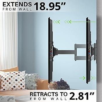 "USX MOUNT Full Motion Swivel Articulating Tilt TV Wall Mount Bracket for 26-55"" LED, OLED and 4K TVs, TV Mount Fit fo..."