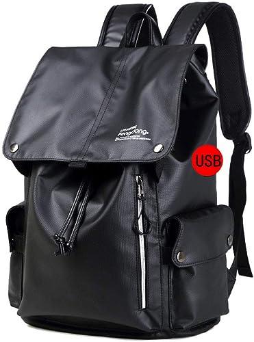 Hommes Sac à Dos Anti-vol USB Charge voituretable épaule Sac Voyage Sacs à Dos Chaque Jour sacpack Sacs D'ordinateur portable pour Adolescent,noirA
