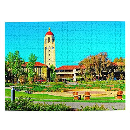 USA America Stanford University San Francisco Jigsaw Puzzle 500 piezas para adultos niños de madera regalo recuerdo 20.5 x 15 pulgadas (FX06474)