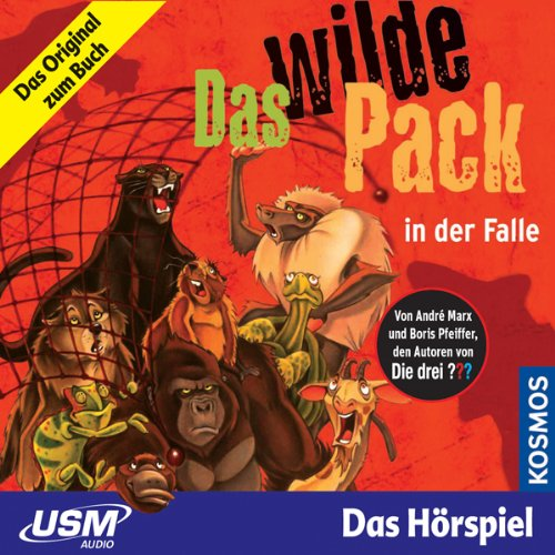 Das wilde Pack in der Falle     Das wilde Pack 5              Written by:                                                                                                                                 André Marx,                                                                                        Boris Pfeiffer                               Narrated by:                                                                                                                                 Thomas Linden,                                                                                        Jens-Peter Fiedler,                                                                                        Frank Bahrenberg                      Length: 46 mins     Not rated yet     Overall 0.0