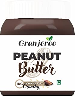GRANJEROO® | Peanut Butter | 100% Roasted Peanuts & Ready To Eat | Excellent source of Protein & Fiber | Natural Peanut Bu...