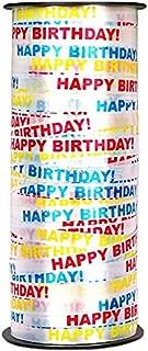 Kangkang@ 2 Pcs Party Decorative Supplies 100 yds Balloon Curling Ribbons, Happy Birthday