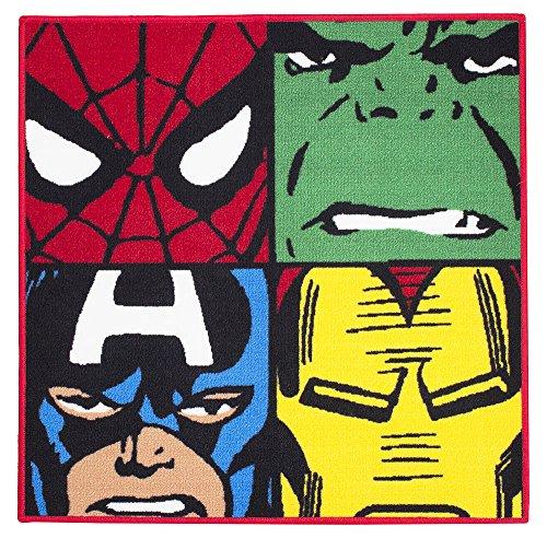Marvel Comics Defenders Teppich / Matte, Spiderman / Hulk / Captain America / Iron Man