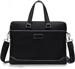 Men's Accessories Canvas Briefcase houlder Messenger Bag Crossbody Bag Holder Black for Men Business Outdoor Recreation (Color : Black)