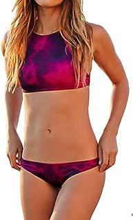 Women High Neck Halter Bikini Set Two Piece Swimsuit