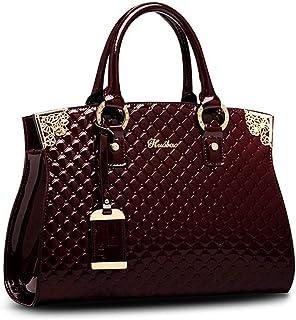 efc9601ac5 Women s Patent Leather Handbags Designer Totes Purse Satchels Shoulder Handbag  Fashion Embossed Top Handle Bags