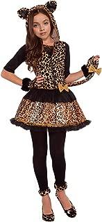 Girls Wild Cat Costumes Leopard Print Costumes Glovelettes,Tights,Tail