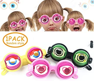 Eyeball Glasses, Womdee Googly Eyes Glasses Funny Fashionable Unisex Slinky Glasses Costume Glasses Accessories for Kids & Adults, Gag Gifts for Halloween, April Fools Day and Themed Party