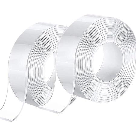 blanco Greatangle Cinta adhesiva de doble cara de adherencia s/úper fuerte de 6MM para oficina en casa potente adhesivo de doble cara para uso en la oficina