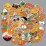 MYOMY Orange Kinder Graffiti Sticker Reisetasche Schultasche Notebook Wasserdichter Persönlichkeitsaufkleber 150 STK