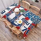 Abwaschbar Tischdecke Eckig 140X200 cm,Anker, Vintage Design Anker mit Seil auf Grunge amerikanische Flagge Seele des Meere,Wasserdicht Tischtuch Tischwäsche Leicht zu pflegen Garten Zimmer Tischdekoration