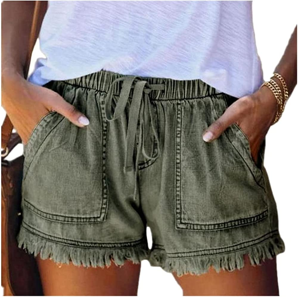 NP High Waisted Shorts Jeans Plus Size Summer Women's Denim Shorts Large Size for