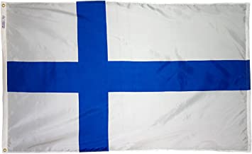 product image for Annin Flagmakers Model 192614 Finland Flag 3x5 ft. Nylon SolarGuard Nyl-Glo 100% Made in USA to Official United Nations Design Specifications.