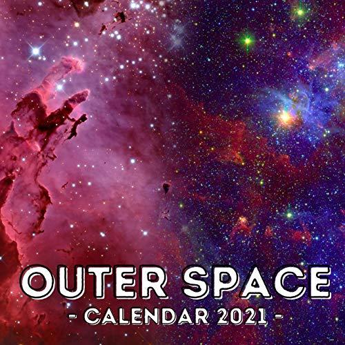Outer Space: 2021 Calendar Book, Cute...