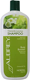 Aubrey Chamomile Luxurious Shampoo | Brightens & Volumizes Normal Hair | Adds Bounce & Fullness, Soothes Scalp | 75% Organic Ingredients (16 oz)