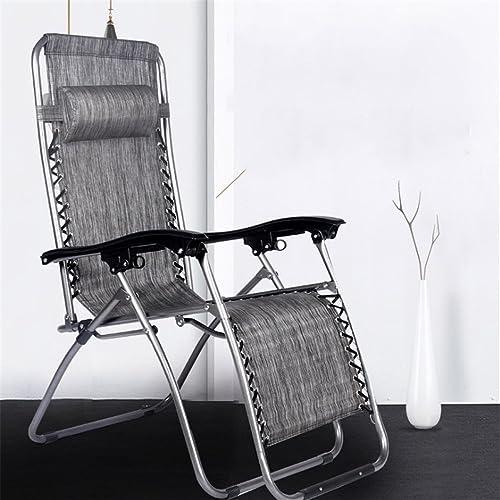 Zgsjbmh 22 Tube Pliant Chaise Recliner De Luxe Déjeuner Déjeuner Canapé Tessforest Loisirs Chaise Plage Chaise Chaise Camping Pliante