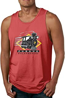 SAXON13 Funny Sleeveless Shirt For Men Purdue University Boilermakers Red