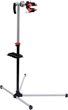 Outsunny HomCom Cavalletto Supporto per Riparazione Bicicletta con Piedistallo e Vassoio in Acciaio, 84x75x100-160cm