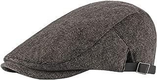 BESBOMIG Gatsby Newsboy Cap Gatsby Hat Tweed Flat Cap Travel Bucket Beach Sun Hat for Men Women Costume Accessories 55-60cm