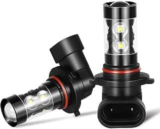 9145 9140 Led Fog Light Bulb, AUTOBEAM H10 9045 Led Fog Lamp High Power 24 CREE Chips, Cool white 6000 6500K (pack of 2)