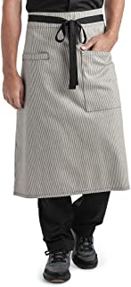 Ivory/Blue Denim Bistro Apron (Unisex Adult Sized) | Perfect for Chefs, Bakers, Home Kitchens, Restaurants, Servers, Uniforms, Gifts, Men, Women, Hobbyists, Professionals, and More