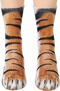 Best Animal Paws Socks - Funny 3D Animal Socks Crazy Cat Tiger Dog Paw Crew Socks Novelty Socks Gag Gifts Review
