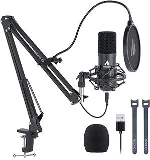 Kit de Micrófono USB 192KHZ / 24BIT MAONO AU-A04 Micrófono Condensador Plug & Play para PC MAC PS4, Microfono de Estudio c...