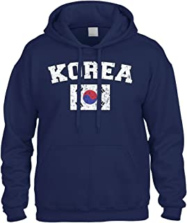 Faded Distressed Korea Flag Sweatshirt Hoodie Hoody
