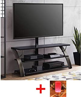 Whalen Payton Charcoal 3-in-1 Flat Panel TV Stand for TVs up to 65