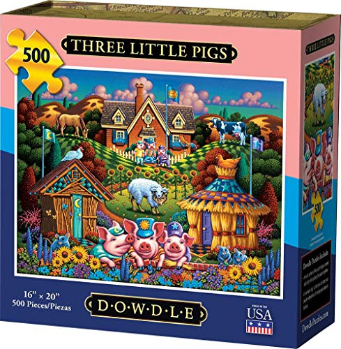 Puzzle Tres Cerditos marca D·O·W·D·L·E