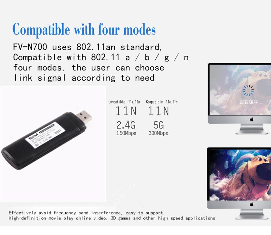 UANB】- Adaptador inalámbrico de USB 2.0 para televisor WiFi ...