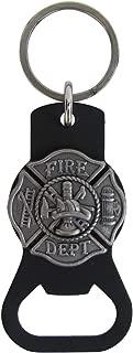 Treasure Gurus Firefighter Maltese Cross Beer Soda Bottle Opener Keychain Fireman Gift