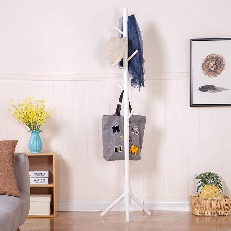 DYR Solid Wood Coat Rack, Simple Floor Coat Hanger Modern Living Room Clothes Rack-B diameter175cm (69inch)