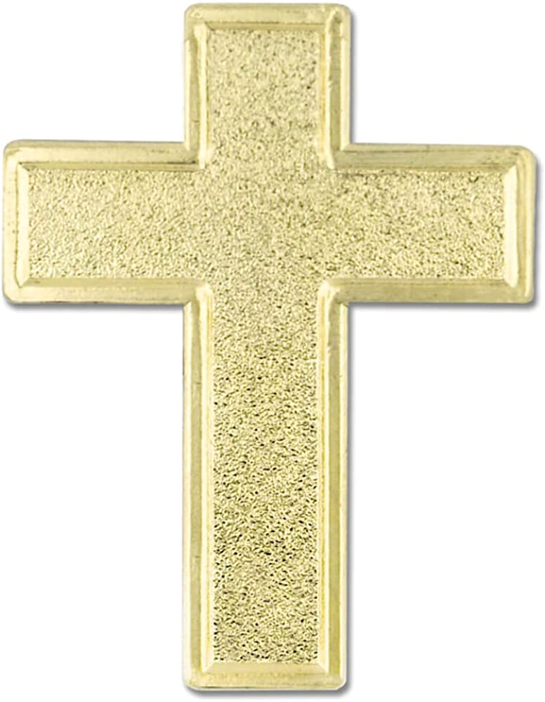 PinMart Traditional Gold Cross Religious Lapel Pin