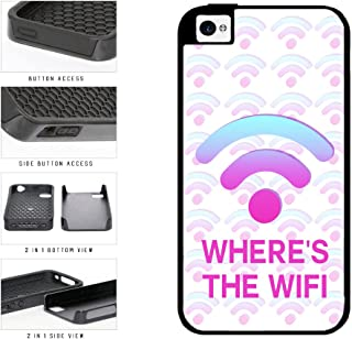 Funny Where's The Wifi Dual Layer Phone Case Back Cover Apple iPhone 4 4s includes BleuReign(TM) Cloth and Warranty Label