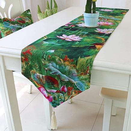 Amazon.fr : chemin de table vert anis - Sets de table / Linge de ...