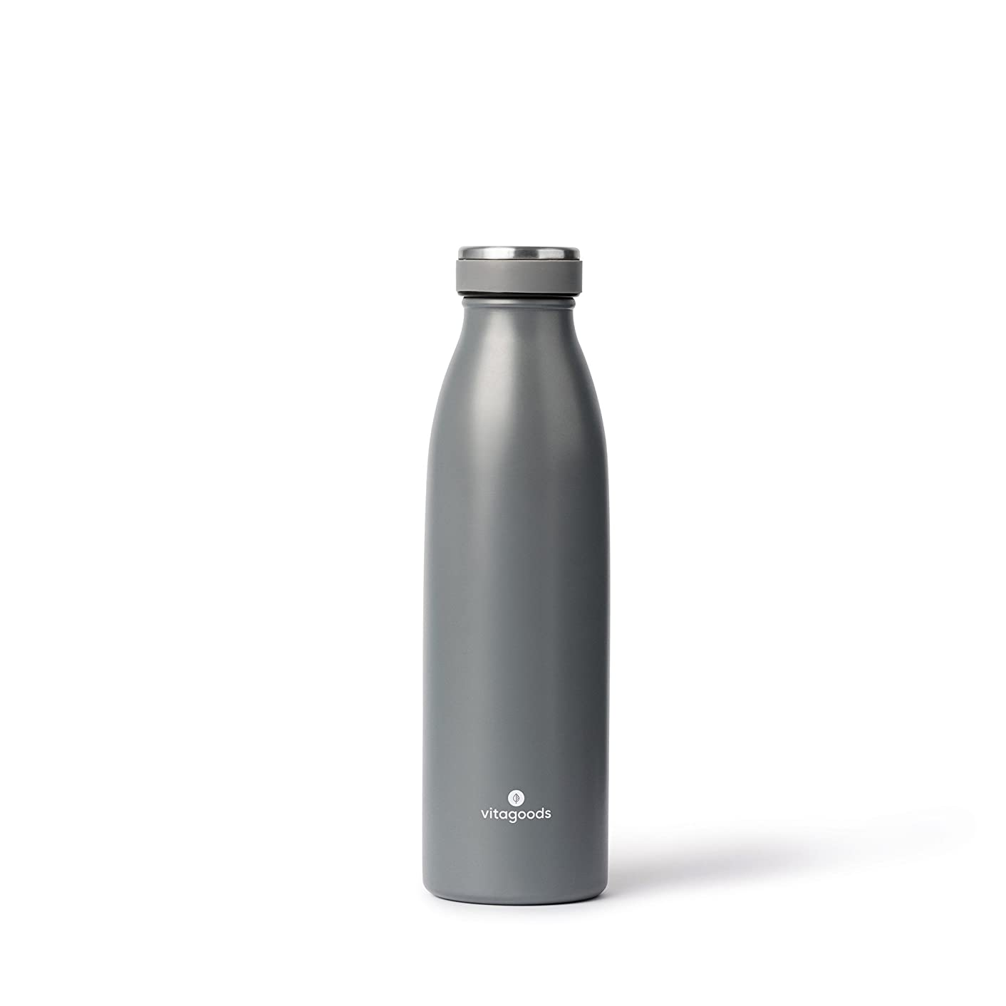Vitagoods Spout Stainless Steel Water Bottle - Vacuum Sealed, Double Walled Insulation - 500ml, Charcoal