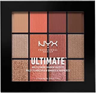 NYX PROFESSIONAL MAKEUP Ultimate Multi-Finish Shadow Palette, Warm Rust, 0.48 Ounce