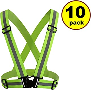 JJMG New Man/Woman High Adjustable Safety Security Visibility Reflective Vest Gear Stripes Jacket – Jogging, Running,Cycling