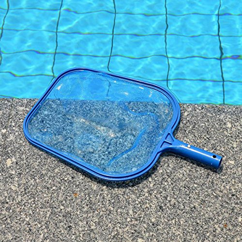 Sunnyglade Swimming Pool Cleaner Supplies/Professional Heavy Duty Pool Leaf Rake Fine Mesh Frame Net/Swimming Pool Cleaning Leaf Skim Net (Blue)