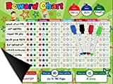 Magnetic Behavior/Star/Reward Chore Chart, One or Multiple Kids, Toddlers, Teens 17' x 13', Premium Dry Erase Surface, Flexible Chart with Full Magnet Backing for Fridge, Teaches Responsibility!