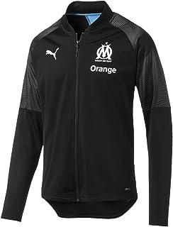 515b0795b648d Puma Olympique de Marseille Poly Jacket Sponsor Logo with Zi Veste De  Survêtement Homme