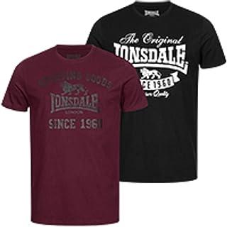 Lonsdale Men's TORBAY Doppelpack T-Shirt