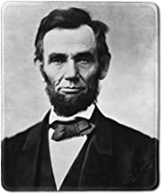 dealzEpic - Art Mousepad - Natural Rubber Mouse Pad with Classic Photo of Portrait of 16th US President Abraham Lincoln - Stitched Edges - 9.5x7.9 inches