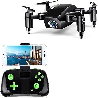 LBLA 1 RC Mini Drone Plegable Regalo para Niños/Adultos Giroscopio de 6 Ejes con Control Remoto de Altitud Cuadricóptero HD WiFi Cámara FPV 2.4 GHz 8 Minutos Tiempo de Vuelo Negro