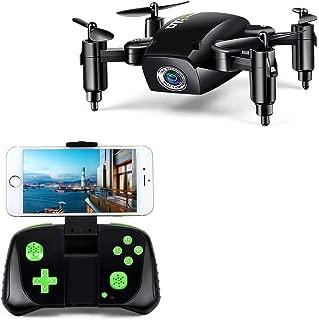 LBLA 1 RC Mini Drone Plegable Regalo para Niños/Adultos, Giroscopio de 6 Ejes con Control Remoto de Altitud Cuadricóptero HD WiFi Cámara FPV 2.4 GHz, 8 Minutos Tiempo de Vuelo, Negro